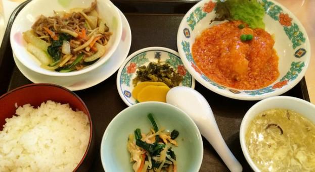 中華菜館 五福の日替わりランチ