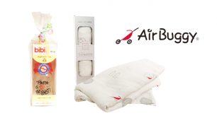 AirBuggyオリジナルのガーゼと哺乳瓶を抽選で5名様にプレゼント!