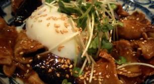 華の茄子豚定食